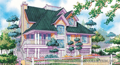 Nassau Cove Home Plan-Front Elevation Render Image-Plan #6654