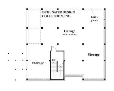 Nassau Cove-Lower Level Floor Plan-Plan 6654
