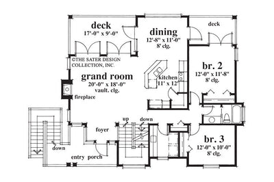 Nassau Cove-Main Level Floor Plan-Plan #6654
