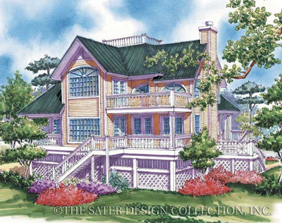 Nassau Cove Home-Rear Elevation-Plan #6654 by Sater
