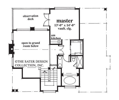 Nassau Cove-Upper Level Floor Plan-Plan 6654