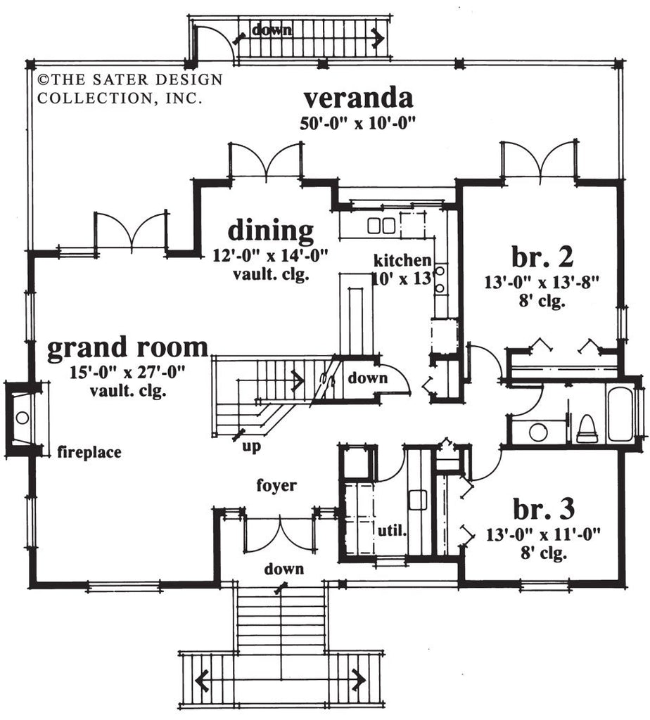 Home Plan Abaco Bay | Cottage House Plans | Sater Design Collection