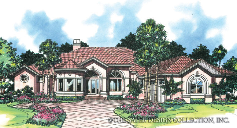 Spring Hill Lane-Front Elevation-Plan #6661