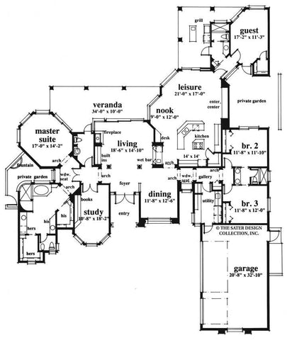 House Plan Spring Hill Lane Sater Design Collection