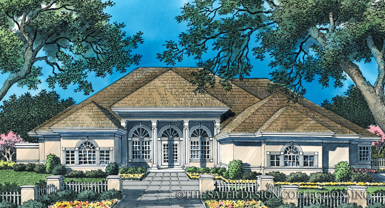 Queenstown Harbor Home-Front Elevation Render Image-Plan#6663