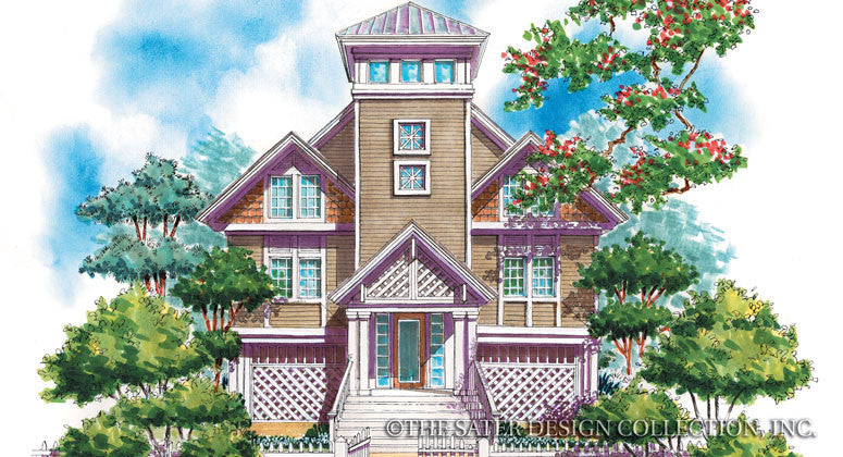 Saddle River-Front Elevation-Plan#6681