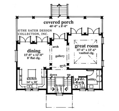 Saddle River-Main Level Floor Plan-#6681