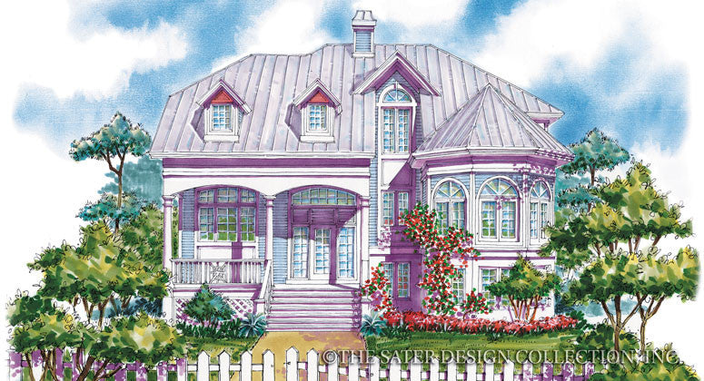 Seagrove Beach-Front Elevation-Plan #6682