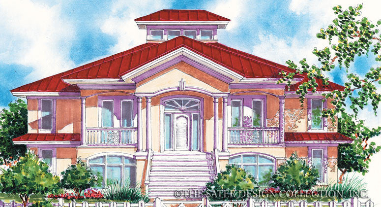 Southhampton Bay -Front Elevation-Plan #6684