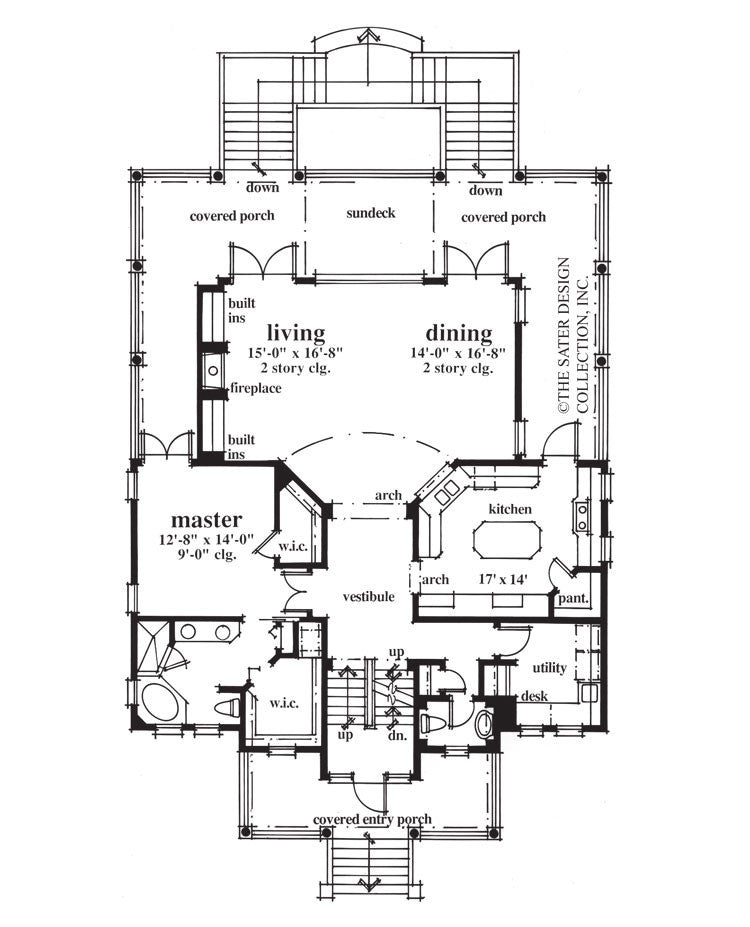 Home Plan Hemingway Lane Sater Design Collection