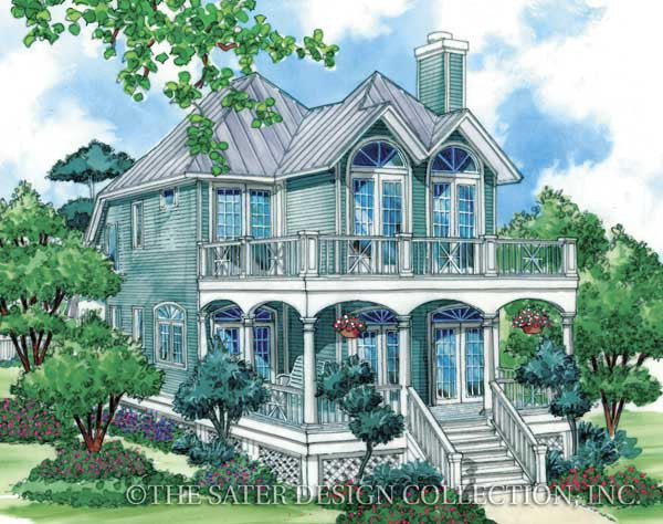 Home plan georgetown cove sater design collection American west homes floor plans