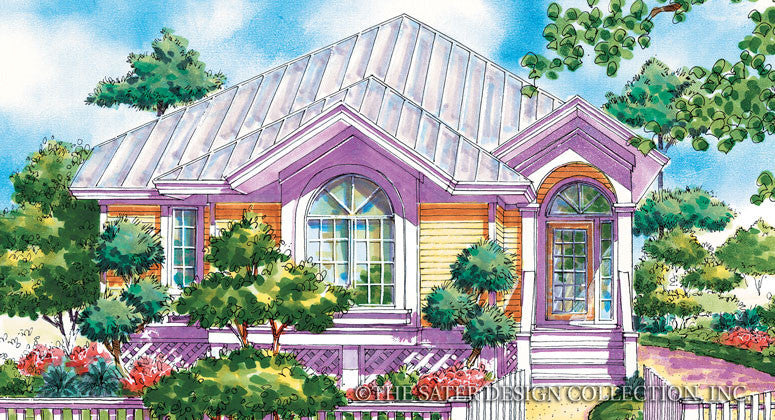 Mallory Square-Front Elevation Render-Plan #6691