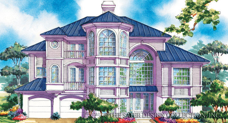 Walker Way-Front Elevation-Plan #6697