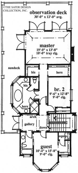 Home Plan Charleston Place Sater Design Collection