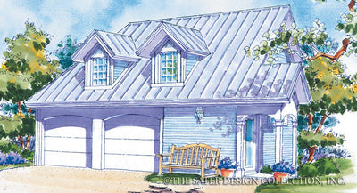 Two Car Garage Plus-Front Elev Rendering-#6703
