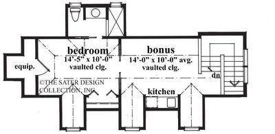 Three Car Garage-Bonus Apartment Floor Plan-Plan #6704