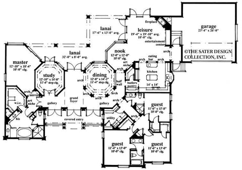 House plan village greens way sater design collection Village house plan