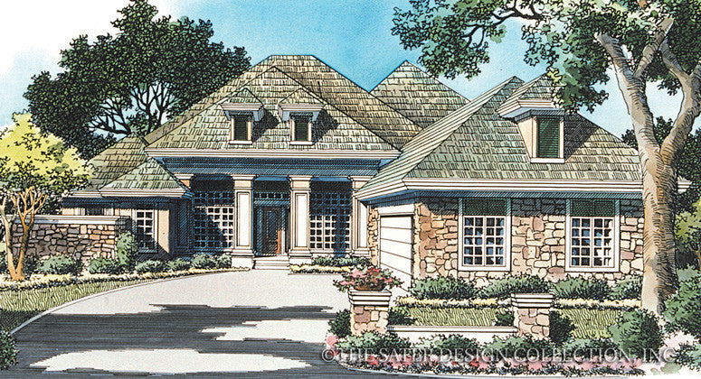 Reynolds Plantation Drive Home-Front Elevation Render Image-#6722