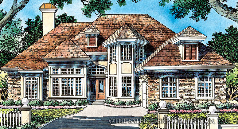 Whitemarsh Valley Way-Front Elevation-Plan #6723
