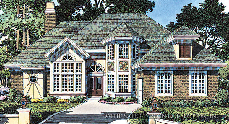 Old Mill Circle-Front Elevation-Plan #6724