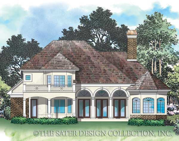 House plan old mill circle sater design collection for Circle house plans