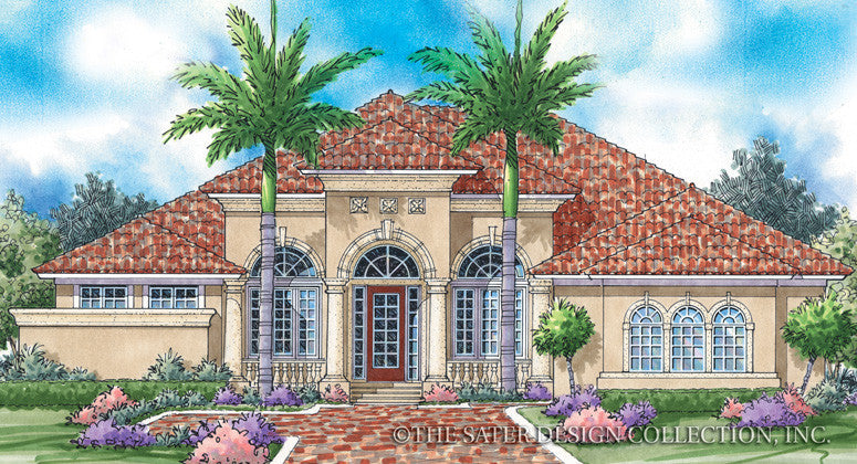 Palm Harbor Front Elev Rendering-Plan #6727