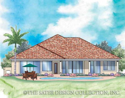 Palm Harbor-Rear Elev Rendering-Plan #6727