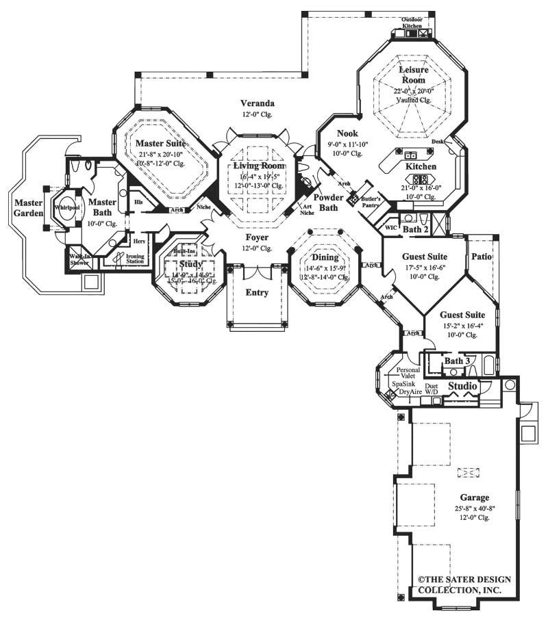 House plan rosewood court sater design collection for Rosewood house plan
