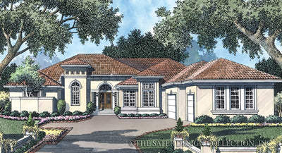 Plantation Pine Road-Front Elevation-Plan #6735