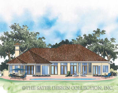 Plantation Pine Road-Rear Elevation-Plan #6735