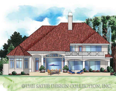 Brendan Cove-Rear Elevation-Plan #6740