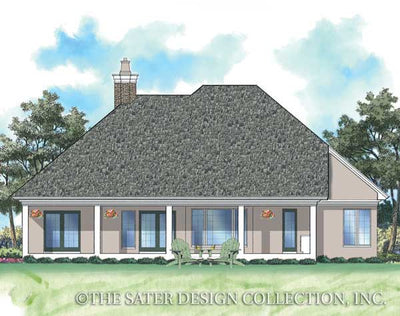 Morningside Court-Rear Elevation-Plan #6743