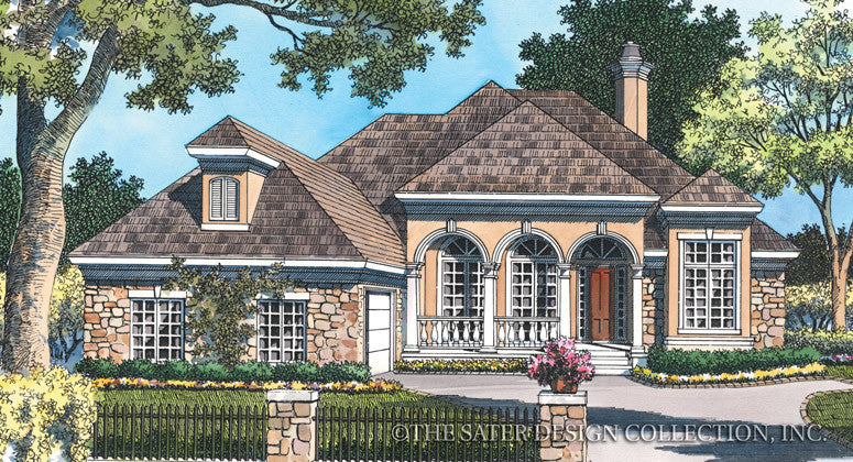 Westdale Court-Front Elevation-Plan #6744