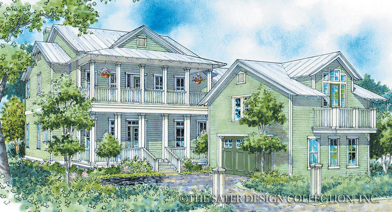 Carlisle Bay-Front Elevation-Plan #6755