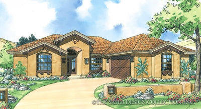 Terra Valley-Front Elev Rendering-Plan #6761