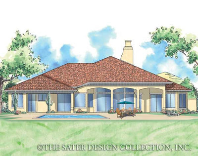 Sonora-Rear Elevation-Plan #6764
