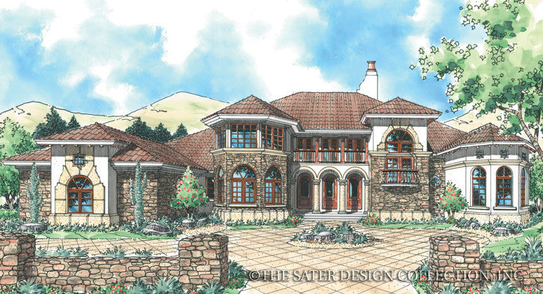 Flagstone Ridge-Front Elevation-Plan #6765