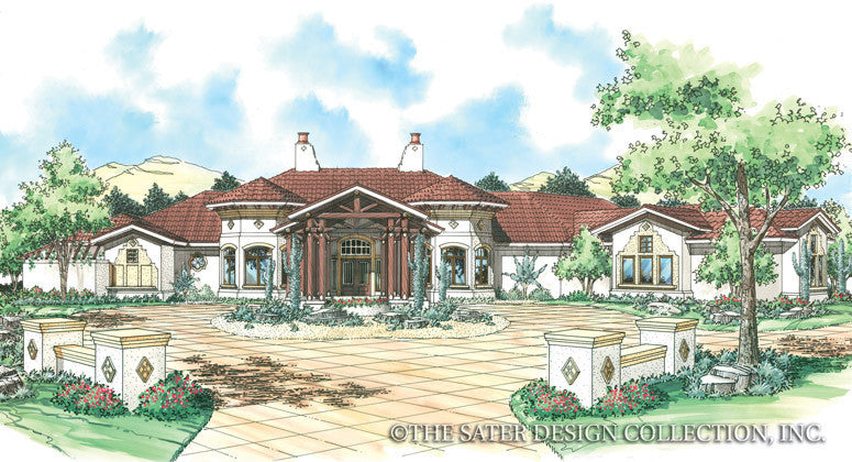 Echo Canyon-Front Elevation-Plan #6766