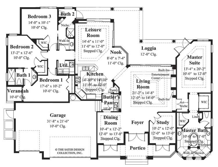 home plan deauville sater design collection