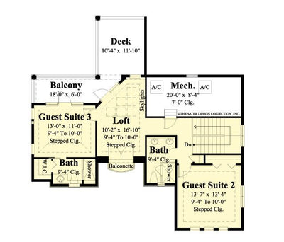 Ferretti Second floor plan