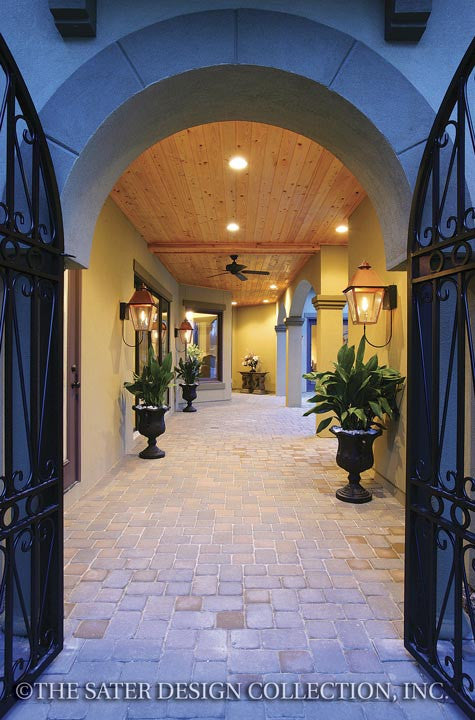 Home plan ferretti courtyard house plans from sater for Sater design ferretti