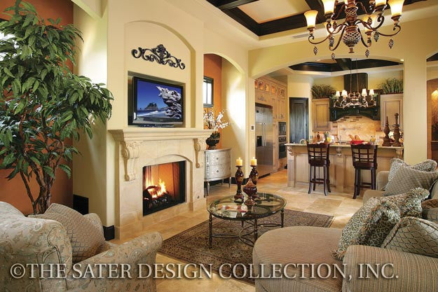 Home plan ferretti courtyard house home plans sater for Dan sater homes