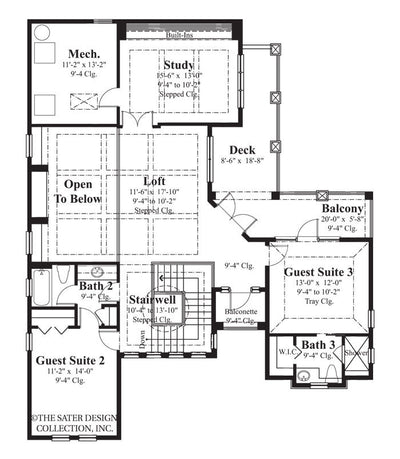 Salcito-Upper Level Floor Plan- #6787