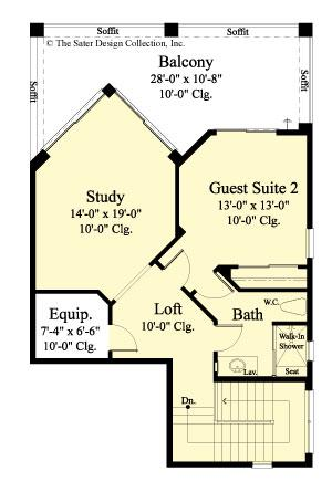 Beasley-Upper Level Floor Plan-Plan #6791