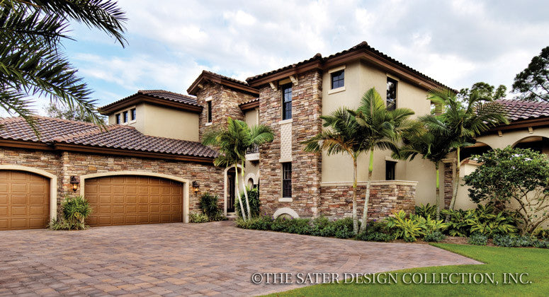 Home plan casoria tuscan house plans home design for Tuscan home plans with casitas