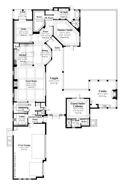 Casoria- Main Level Floor Plan -Plan #6797