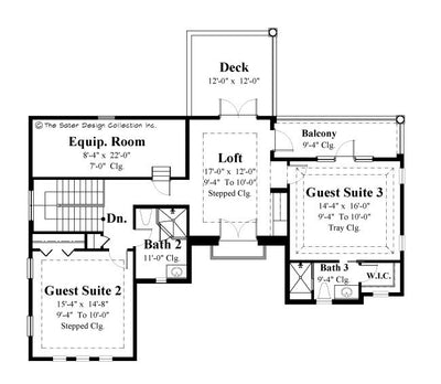 Casoria- Upper Level Floor Plan -Plan #6797