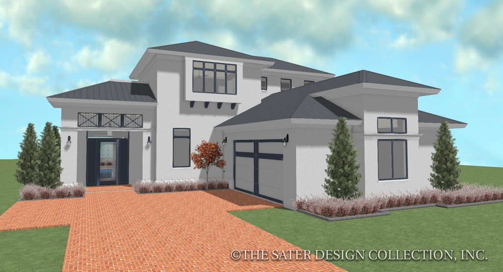 Narrow Lot House Plans and Designs   Sater Design Collection on narrow lot ranch house plans, narrow lot coastal home plans, narrow lot colonial house plans,