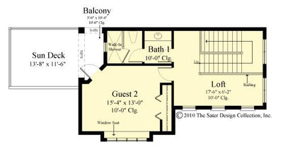 Belvedere second floor plan