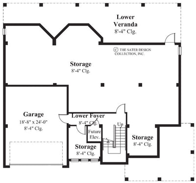 6800_Lower-Level_400x Conch Style House Plans on key west cottage house plans, small bungalow house plans, island style cottage plans, small cheap house plans, key west conch house plans,